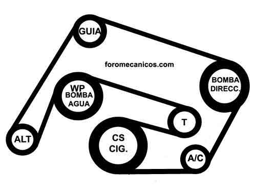 2006 mercedes benz c280 serpentine belt diagram