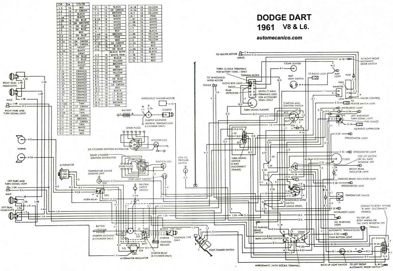 diagrama electrico 1961 dart mecanica automotriz