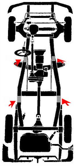 puntos de apoyo para elevar un vehiculo dodge plymouth trucks